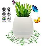Vaso di Fiori di Musica Smart Audio Wireless Speaker Touch Piano Music Play WZMIRAI Pentola da giardino con luce multifunzionale a colori LED