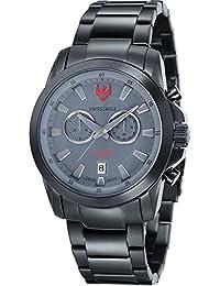 SWISS EAGLE SE-9055-88 - Reloj para hombres, correa de acero inoxidable