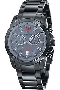 Swiss Eagle - SE-9055-88 - Zermatt - Montre Homme - Quartz Chronographe - Cadran Noir - Bracelet Acier plaqué Noir