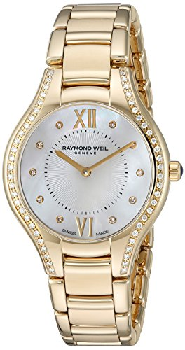RAYMOND WEIL WOMEN'S NOEMIA DIAMOND 32MM SWISS QUARTZ WATCH 5132-PS-00985