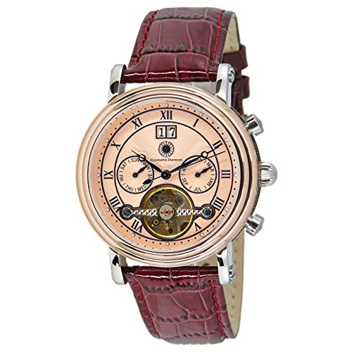 Constantin Durmont Gents Watch XL Analogue Automatic Leather Salinas CD Sali-At-Lt-PK Ctrl -