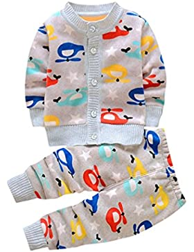 EARS Baby - Neugeborenes Säugling Baby Jungen Baumwollmischung & gestreift Lange Ärmel Drucken 6-24 Monate
