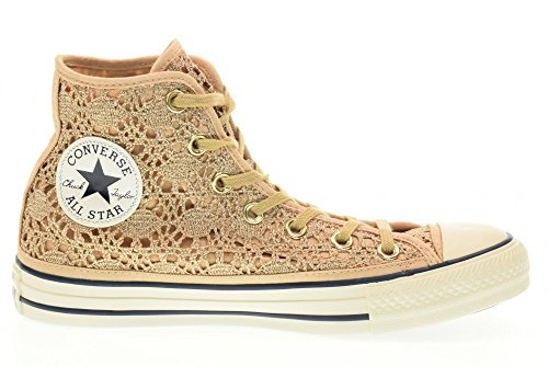 Converse - 556772C CT AS HI Crochet Metallic light gold /white/navy light gold /white/navy