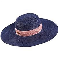 YAJIE Big Edge Sombrero de Playa Sombrero de Paja Plegable Sombrero  Sombrero para el Sol Sombra 7810f54d684