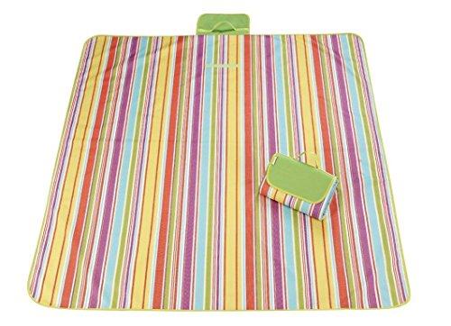Heckklappe Decke (senhui 200,7x 144,8cm Feuchtigkeit wasserfest outdoor Strand Picknick Camping Matte Decken faltbar Baby Decke Picknick Matte, grün)