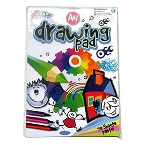 Dessin Pastel A4 bloc-note - 70 feuilles = 140 pages - Papier Pastel en 5 couleurs - Taille 297mm x 210mm