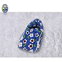Kradyl Kroft Original Baby Bag Baby Bag/ Baby Receiving Blanket/ Baby Carrier- Blue Floral ( BB-216 )