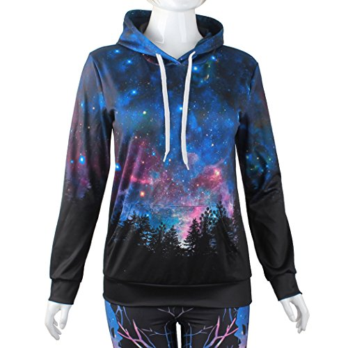 VENI MASEE Unisex 3D Digital Druck Casual Pullover Hoodie Sweatshirt für Liebhaber(M-2XL) Galaxy6