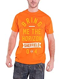 Bring Me The Horizon Herren T Shirt Orange Big Text band logo offiziell