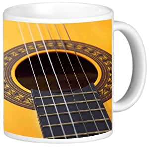 Rikki Knight Photo Quality Ceramic Coffee Mug, 11 oz, Guitar