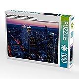 Frankfurter Skyline, Aussicht vom Maintower 1000 Teile Puzzle quer