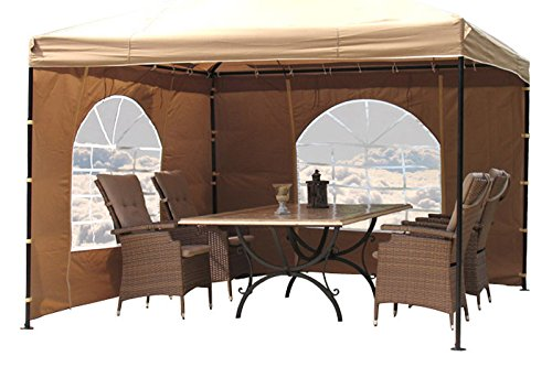 Grasekamp 2 Seitenteile zu Lounge Pavillon Sahara 4x4m mit PVC Fenster