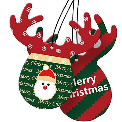 2PS Ornamento di Natale Deodorante per Auto Simpatici Corna Documenti di Profumo Auto appesa Profumo Auto Decor Strumenti Diffusore Auto
