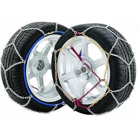 Ghiaccio 9 mm, K100-Spring assistita tensione per auto, da neve Easy-Fit-& Ice Grip-Catene per pneumatici, 215/55-16 (Venduti in paia