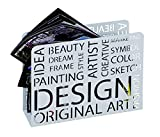 Haku Möbel 44395 Porte Journaux Métal Blanc 10 x 35 x 26 cm