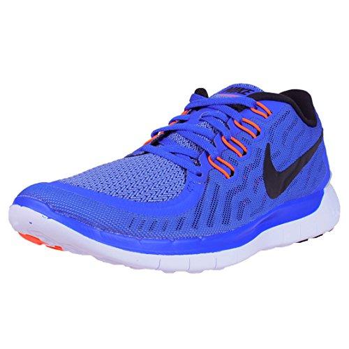 Nike Free 5.0, Chaussures de Running Entrainement Femme Bleu - Azul (Racer Blue / Black-Chlk Blue-Wht)