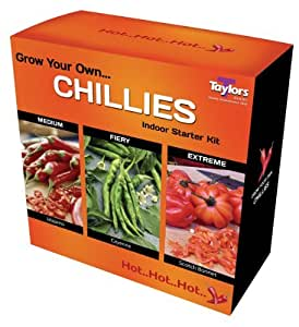 Grow Your Own Chillies - Indoor Starter Seed Kit