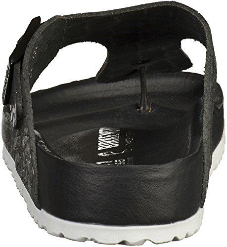 Birkenstock Ramses Leder Unisex-Erwachsene Zehentrenner Croco Black