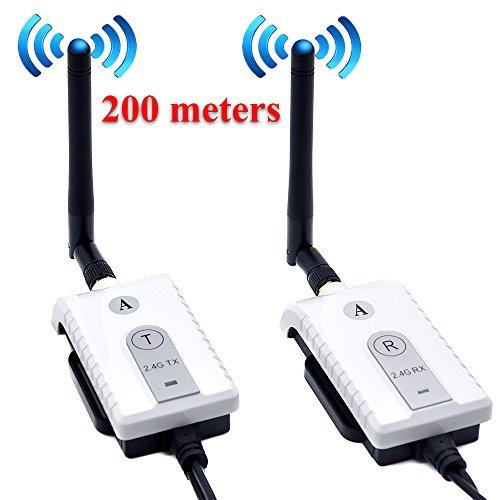 PolarLander Car 2.4G Wireless AV Kabel Sender und Empfänger Für Bus Auto Video Monitor Truck Rückfahrkamera Rückfahrkamera 200 mt Palette
