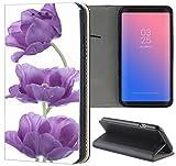 Samsung Galaxy S3 / S3 Neo Hülle Premium Smart Einseitig Flipcover Hülle Samsung S3 Neo Flip Case Handyhülle Samsung S3 Motiv (1196 Blume Lila Weiß)