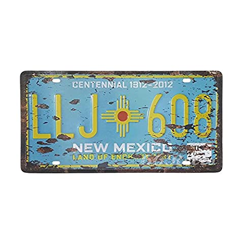 66Retro New Mexico LLJ-608, Land of Enchantment, Embossed Vintage Tin