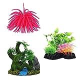 #8: Aquarium Decoration Combo Items (Pack of 3 Decorating Items)