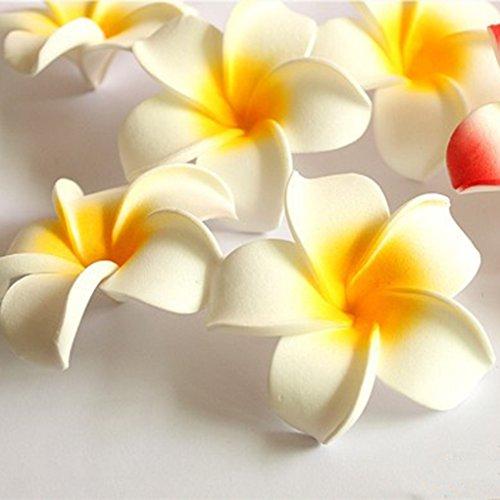 Babysbreath-Cabeza-de-flor-de-seda-artificial-del-Plumeria-Rubra-de-10pcs-los-7cm-DIY-para-la-decoracin-del-sombrero-de-paja-de-los-zapatos-amarillo-claro