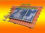 Solar Modul Montage Halterung für 4 Module Rahmenhöhe 45mm für Flachdach von bau-tech Solarenergie GmbH