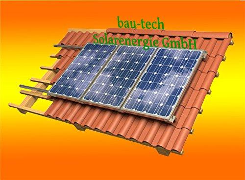 Solar Modul Montage Halterung für 1 Modul Rahmenhöhe 35mm für Flachdach von bau-tech Solarenergie