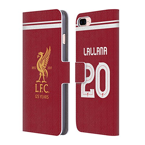 Offizielle Liverpool Football Club Philippe Coutinho Spieler Home Kit 17/18 Gruppe 1 Brieftasche Handyhülle aus Leder für Apple iPhone 5 / 5s / SE Adam Lallana