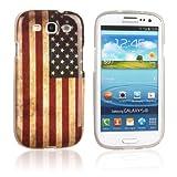 tinxi® Custodia case in silicone e TPU per Samsung Galaxy SIII I9300 case cover protettivo concezione speciale con motivo bandiera americana