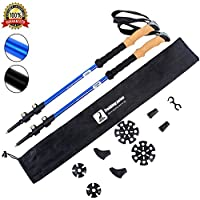 LYDUO Walking Poles Telescopic for Men & Women Hiking Poles with Cork Handle and Tungsten Tip for Walking, Hiking, Trekking, Mountaineering