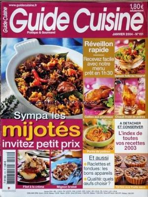 GUIDE CUISINE [No 151] du 01/01/2004