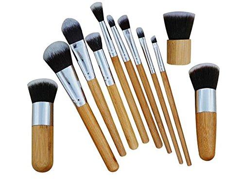 Lady Beauty 11 Stücke Holz akeup Werkzeug Weichen Erröten Gesicht Wange Contour Foundation Powder Brus Kosmetik Pinsel Kit (Farbe, Erröten Wange)