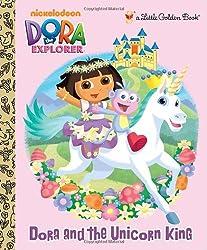 Dora and the Unicorn King (Little Golden Books (Random House))