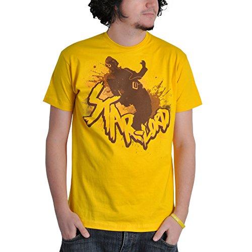 Guardians of the Galaxy- T-shirt della Marvel Comic con motivo di Star Lord - Licenza ufficiale - Giallo - M