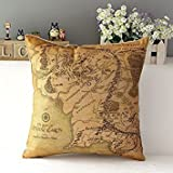 Kenneth case/Kissenbezüge Lord of the Ring Cotton Cushion Cover Sofa Decorative Throw Pillow Chair Car 18X18 Inch(One Side)