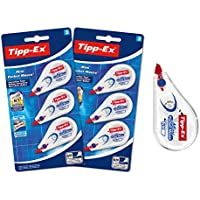 Tipp-Ex Correction Mini Pocket Mouse Rubans Correcteurs - Très Résistant - 6 m x 5 mm, Lot de 2 Blisters de 3