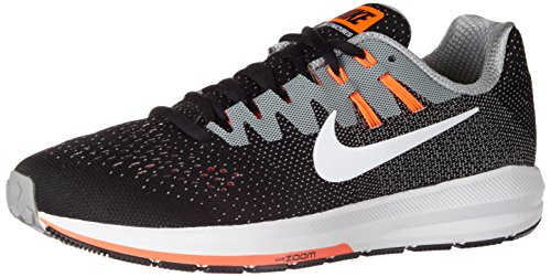 Nike Herren Air Zoom Structure 20 Laufschuhe Schwarz (Black/white/matte Silver/hyper Orange/cool Grey)