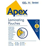 Fellowes Apex - Pack de 100 fundas de plastificar, formato A4, 100 micras