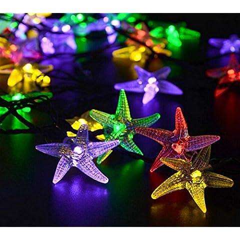 MJEL Giorno di Natale solare acqua prova String luci giardino LED decorativi , colour - Camera Pull String