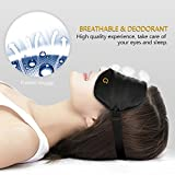 Sleep Mask,Eye Mask,Gritin Ultra Soft Skin-Friendly Pure Natural Silk Fabric and Natural Cotton Filled Sleeping Eye Mask with Adjustable Strap and Ear Plug for Men,Women and Kids Bild 6