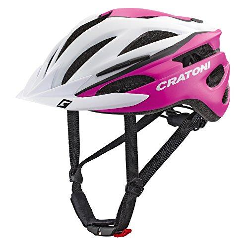 Cratoni Pacer Fahrradhelm, White/Pink Matt, XS-S