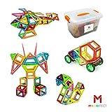 Magnitects Magnetische Bausteine für Kinder | 142-teiliges Set | Kinder-Magnet-Bauspielzeug Kinder und Kleinkinder ab 3 Jahren | Sicherer und Stabiler ABS-Kunststoff | Kreativ und pädagogisch