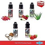 E-VIVO E-Líquido E-Liquid para E-Cigarrillo E-Shisha 10ml E-Liquido de Cigarrillo Electrónico Vape Cigarros con Sabor Fruta Vegetal Glicerina Sin Nicotina 5 pcs-2 x 10 ml