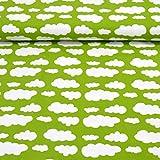 MAGAM-Stoffe ''Lena'' Wolken in 10 Farben   Jersey-Stoff  