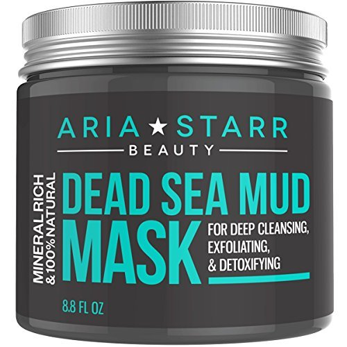 Aria Starr Beauty Dead Sea Mud Mask For Face, Acne, Oily Skin & Blackheads - Best Facial Pore Minimizer, Reducer & Pores Cleanser Treatment - 100% Natural For Younger Looking Skin 8.8oz by AriaStarrBeauty (Meer Schlamm Spa)