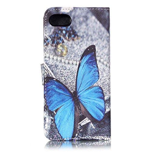 TIODIO® Housse en cuir Pour Apple iphone 7/ iphone 7G PU étui en cuir / case/ coque/ cover/ housse avec la fonction de stand+1 x Stylet+1 x film de protection d'écran, C01 C18