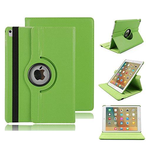elecfan Housse pour iPad, 360 ° Rotation Étui pour iPad en PU Cuir Lederhülle Case Smart Cover Étui à Rabat Cover avec Auto Wake Up et Fonction Support pour iPad (iPad Pro 9.7, Vert)