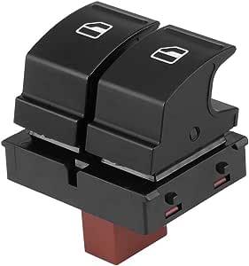 Keenso Doppel Druckknopfschalter Fenster Schwarz Dc 12v Elektrische Steuerung Fenster Schalter Auto